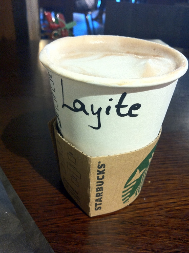 dearLife: When #Starbucks spells your name wrong... *sigh* (1/2)