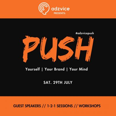 Upcoming Event: #AdzvicePush